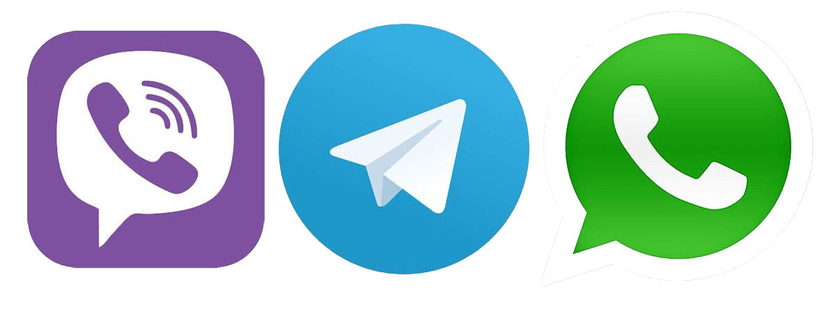 Viber Telegram WhatsApp